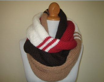 Four Colour Infinity Scarf 1