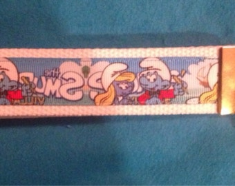 The Smurfs wristlet key fob keychain