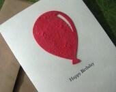Happy Birthday - Balloon Seed Paper