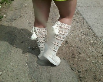 fashion crochet boots