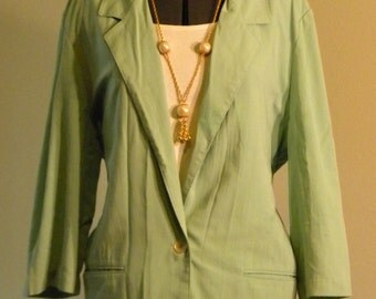 Alfred Dunner Mint Green Spring Jacket