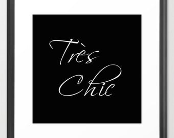 Tres Chic Fashion Print, Paris Wall Decor, Fashion Poster, Paris Print, Glam Decor, Girls Wall Prints, Bedroom Wall Decor, Teen Girl Gifts