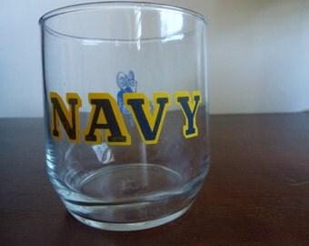 vintage US navy / naval academy glass / tumbler
