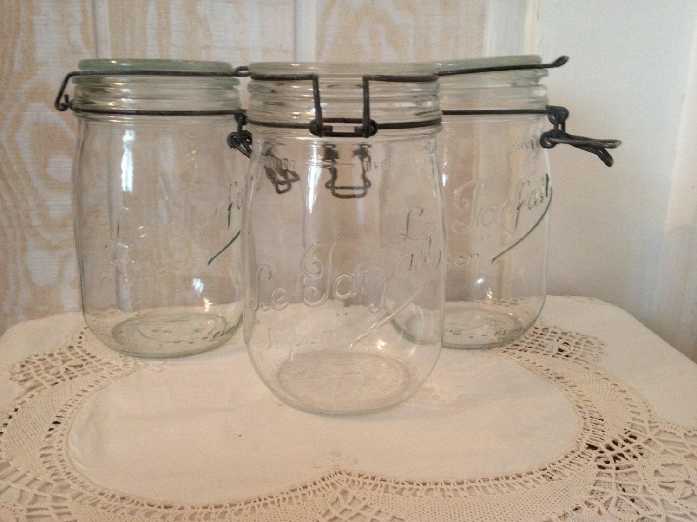 vintage jar cookie jar canister glass jar