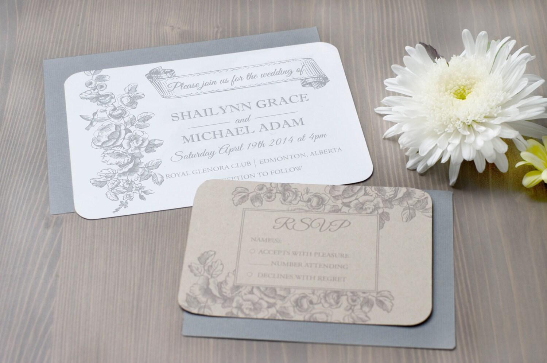 Hummingbird Wedding Invitations: Hummingbird & Floral Custom