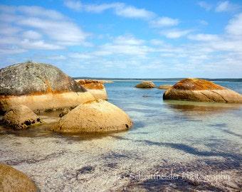 Turtle Rocks - Beach photography, Landscape Photography, Australia, Fine Art Print, Ocean Photography, Rocks, Home Decor, Beach house decor