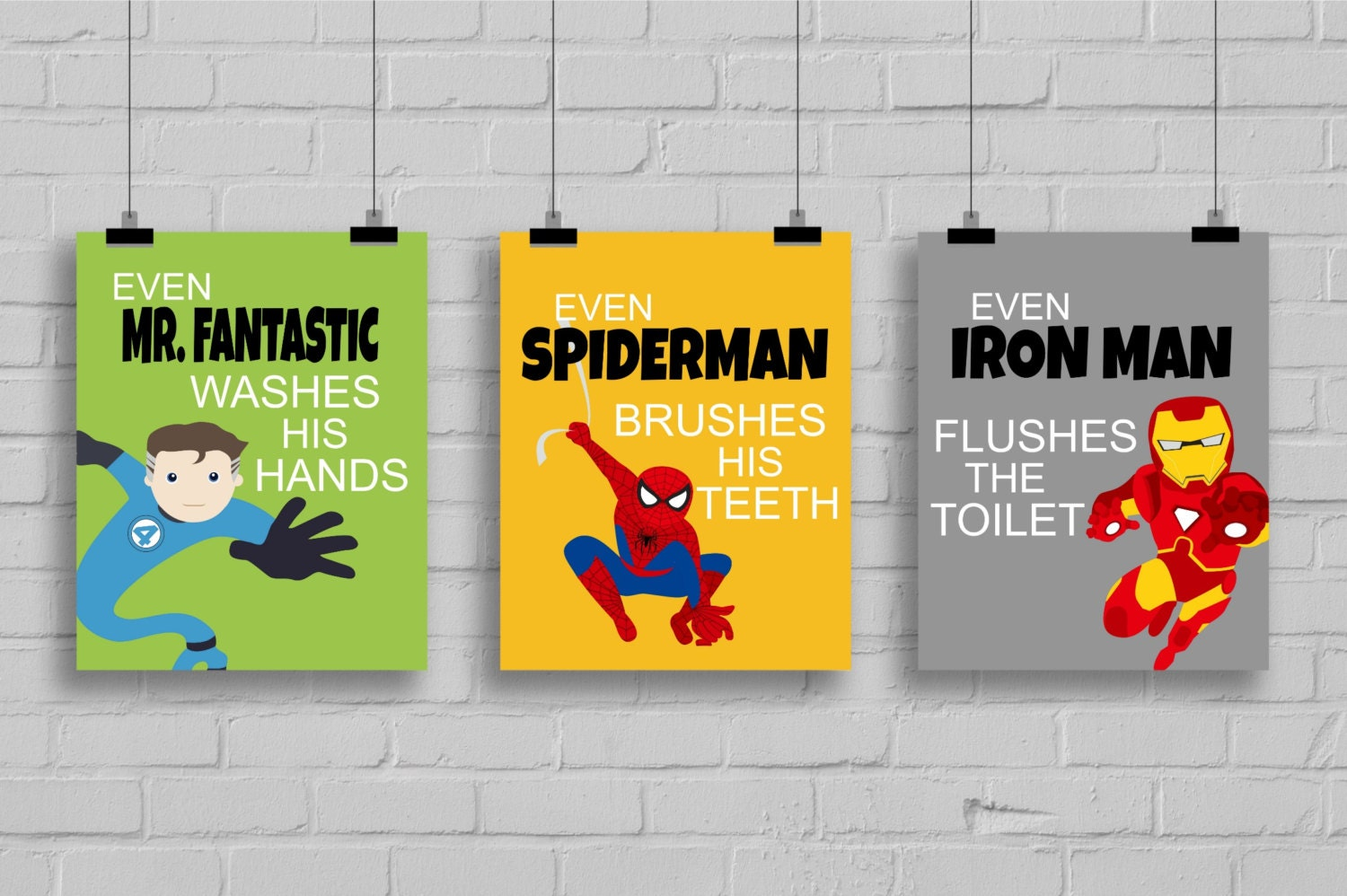 Superhero Bathroom Decor Kids Bathroom By Simplylovecreations