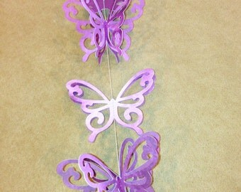 Lavender Butterfly Paper Streamers -3
