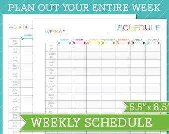 ... - Planner, Organizer, Perpetual, Home Binder, Schedule, Weekly