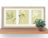 Wall Art, Pastel, Floral Art Print, Living Room Decor, Minimalist Art, Retro Art, Graphic Design Print, Dorm Decor, Set of 3 prints
