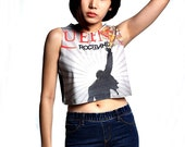 Queen Freddie Mercury  Crop Top Tank Shirt Cropped Tops S M L
