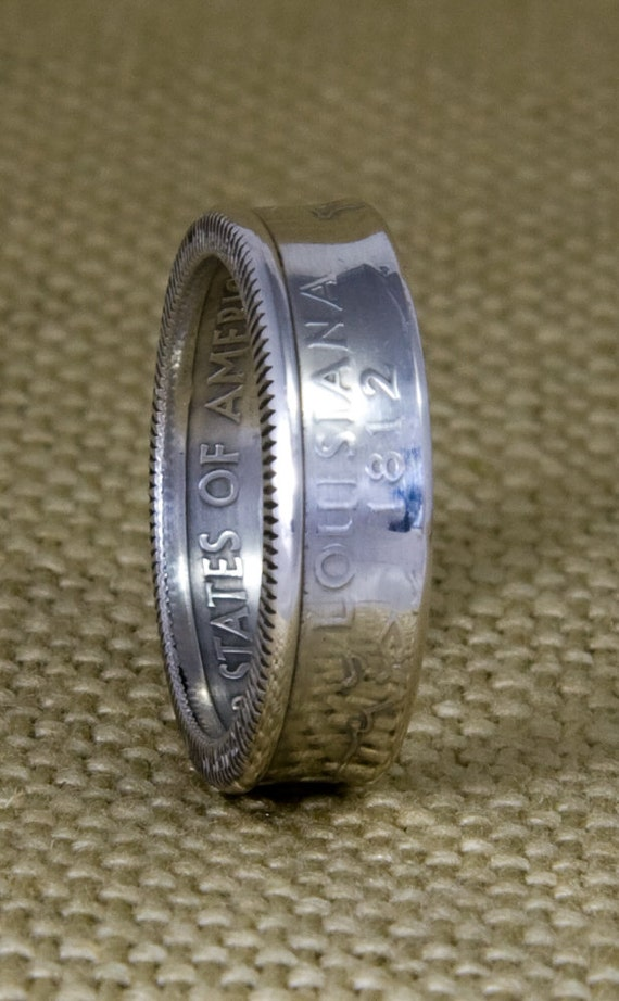 2001 silver coin ring state quarter dollar size by