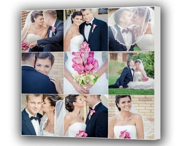 Hnliche artikel wie leinwand foto collage geschenk personalisiert hochzeit bilder collage - Fotoleinwand erstellen collage ...