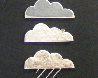 cloud commentary brooches in sterling silver