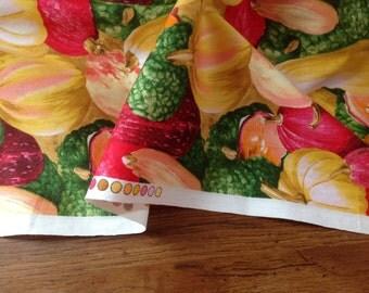 Mixed Vegetables Cotton Fabric - Half meter