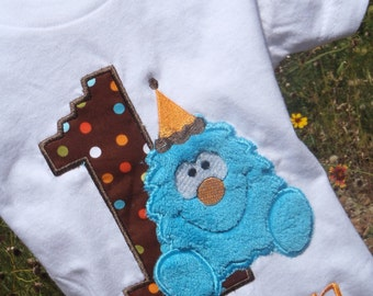 Personalize Monster Birthday Tee