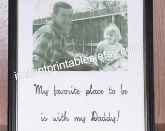 Gift for Dad Father INSTANT DOWNLOAD Vintage from daughter Digital Download Instant print out printable