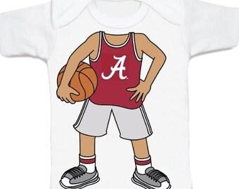 Alabama Crimson Tide Heads Up! Basketball Baby T-Shirt