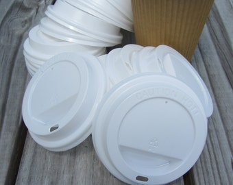 20 Pack - Coffee Cup Lids for 12oz Ripple Wrap Cups