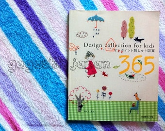 365 Embroidery Design collection for kids_ Japanese craft book Japan DIY kawaii applique chart