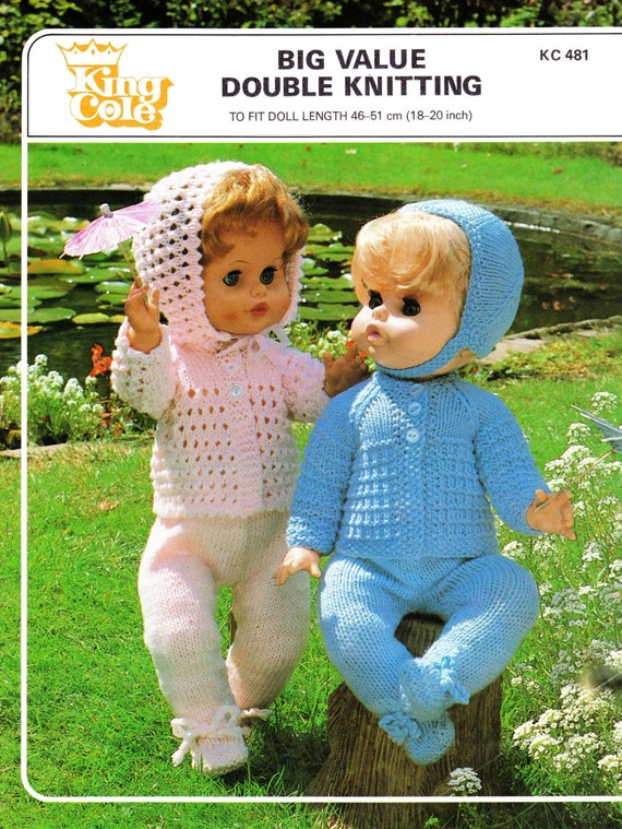King Cole Knitting Patterns To Download : Vintage King Cole 481 knitting pattern for 18