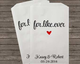 Wedding Favor Bags, Candy Buffet Bags, Candy Bar Bags, Favor Bags, Personalized Wedding Favor Bags, Treat Bags, Custom Favor Bags, Kraft 15