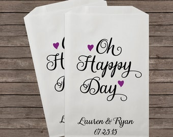 Wedding Candy Buffet Bags, Candy Bar Bags, Wedding Candy Favor Bags, Personalized Wedding Favor Bags, Treat Bags, Favor Bags, Kraft 076