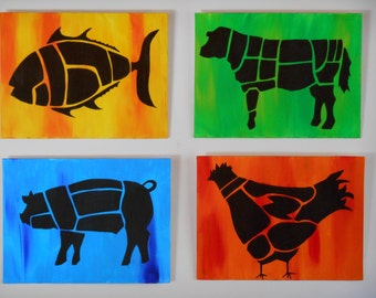 Butchered Animals Silhouette