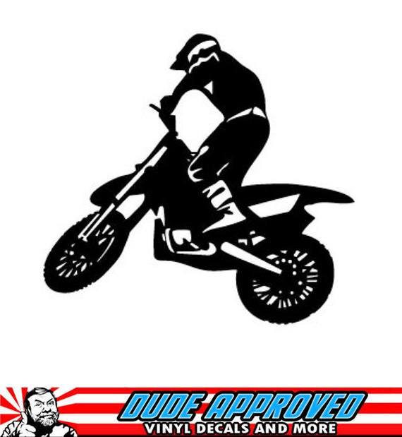 items similar to motocross whip sticker decal mx
