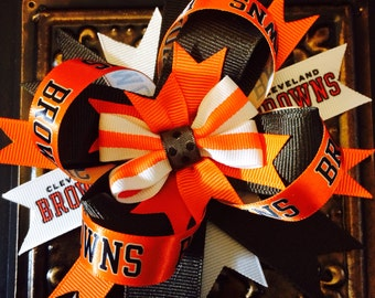Browns Hair Bow...Cleveland Browns