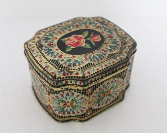 Vintage George Horner Floral Candy Tin