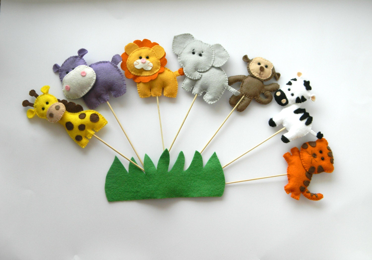 Safari jungle animals cake topper party favors baby shower for Animal cake decoration