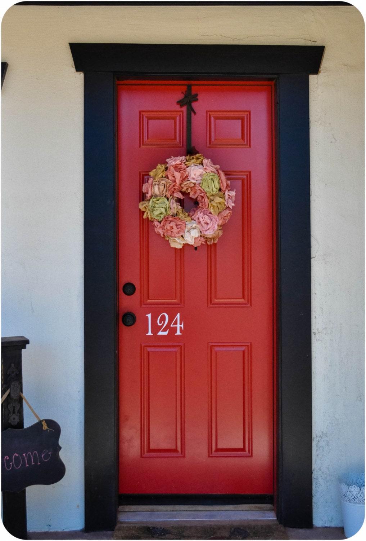 Front Door Decal Sticker Home Address Hello No By AddisonandIvy