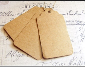 25 Paper Tags, Brown Hang Tags, Wedding Favor Tags
