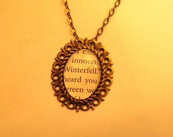 A Game of Thrones Winterfell Pendant