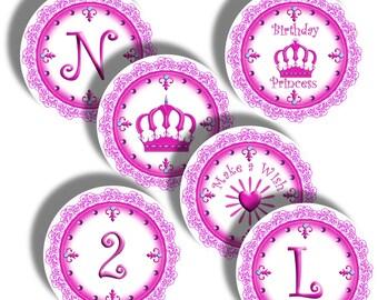 Pink Princess - Digital Collage Sheet 2 Inch Round