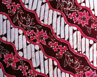 20%OFF SALE! Indonesian Hand-dyed Batik Fabric (Batik Berkah Lestari 4)