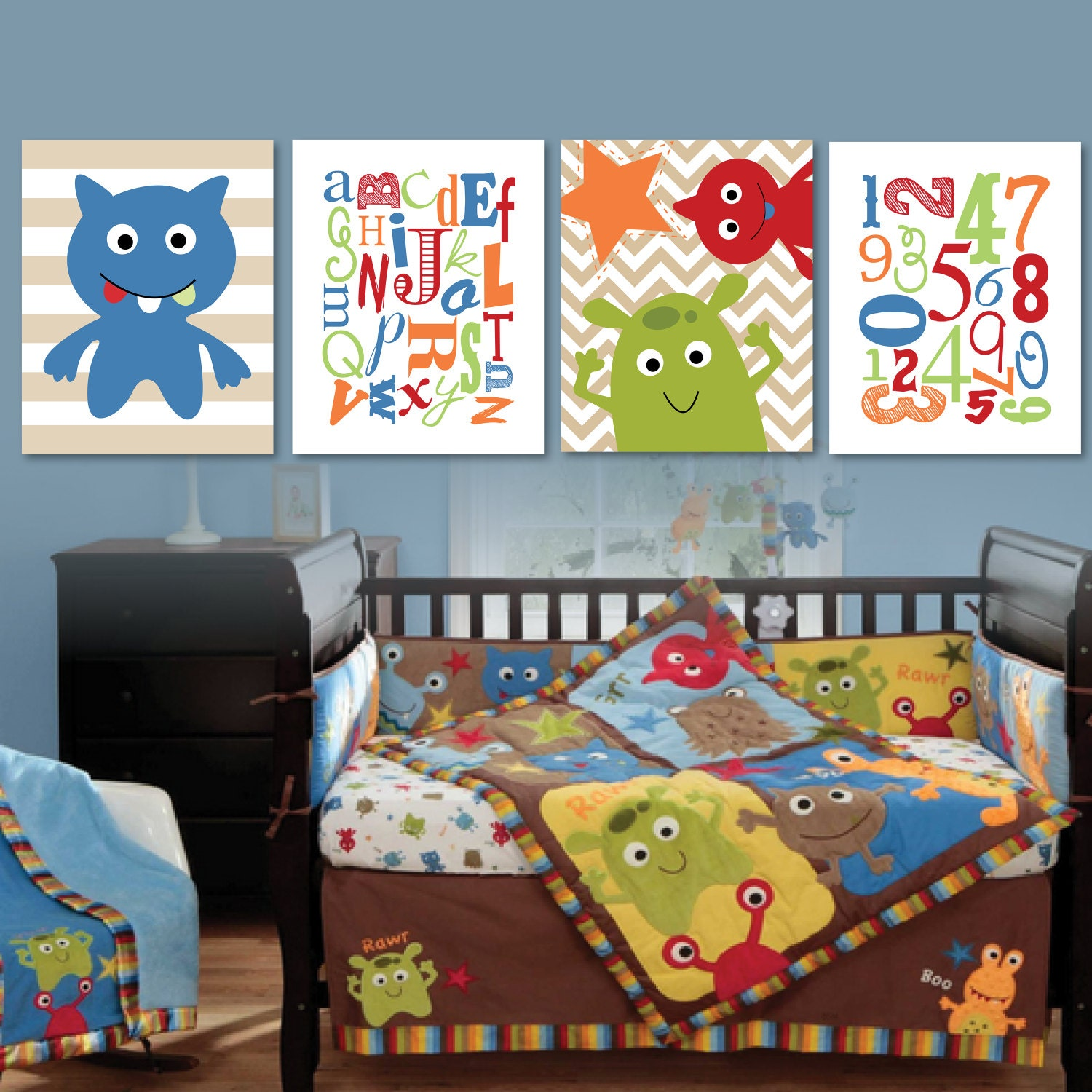 You searched for: monster nursery! Etsy is the home to thousands of handmade, vintage, and one-of-a-kind products and gifts related to your search. Baby Mobile Nursery Decor Monster Mobile Cute Monsters Baby Boy Nursery Decor, Baby Shower Gift Baby Boy Gift. Where the Wild Things Are AContinualLullaby. 5 out of 5 stars () $