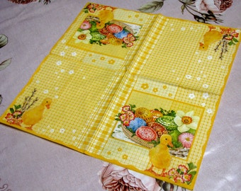 "6 Decoupage Paper Napkins Easter 33x33 cm. 13""x13"" set of 6 pcs"