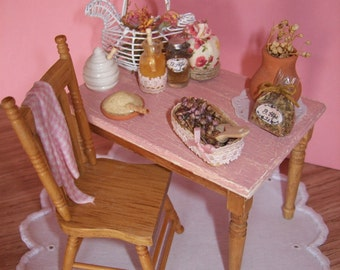 Set of table and kitchen Shabby Chic Chair