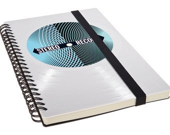Notebook made from white vinyl***STEREO