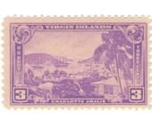 10 Unused 1937 - US Virgin Island - USVI - Vintage Postage Stamps Number 802