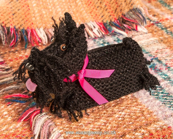 Download Knitting Patterns For Dogs : Instant Download PDF Knitting PATTERN Scottie Dog DLD007