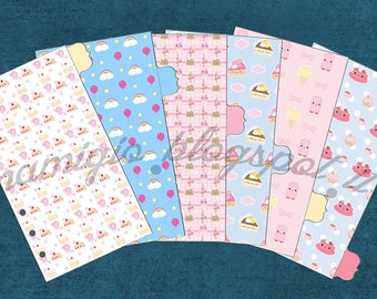 Set of 6 Kawaii dividers