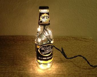 BEER & ALE Bottle Lighting Glass Lamp - Budweiser, Bud Light, Leffe, Mike's Hard...