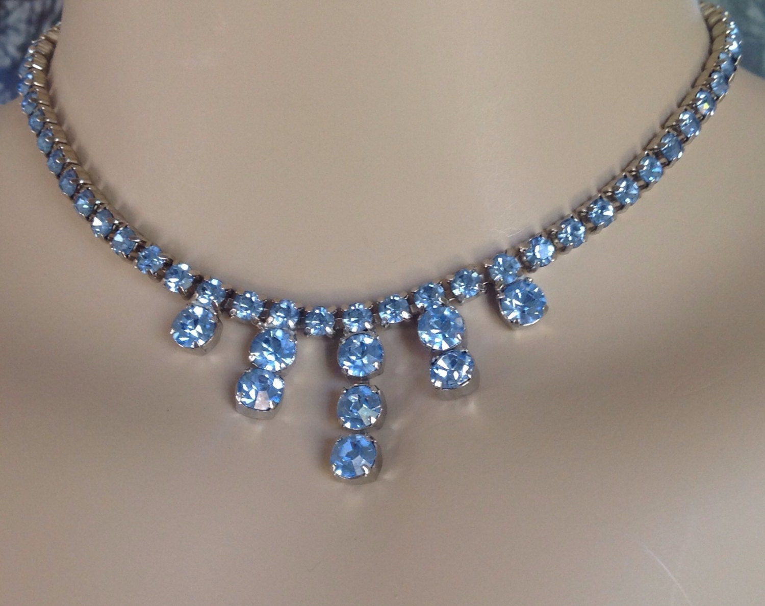 Vintage Rhinestone Jewelry. Related Categories. Auction Alerts. Imitation gems have been substituted for their costly brethren in necklaces, bracelets, and other types of jewelry since the late 18th century, when Georg Friedrich Strass first mimicked diamonds by coating glass with metal powder. Made of rock crystal, acrylic, and leaded glass.