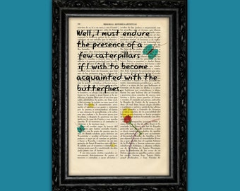 The Little Prince Art print on Book page Le Petit Prince Gift Nursery Dictionary Art Poster Book Decor Dorm Gift Wall Exupéry Art (Nº13)