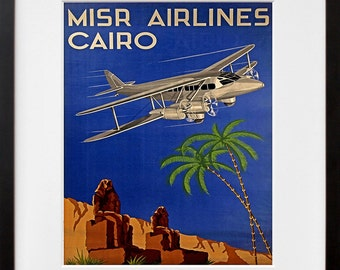 Egypt Travel Poster Airline Tourism Print (TR26)