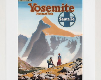 Travel Poster Yosemite National Park Art Print Vintage Home Decor (TR138)