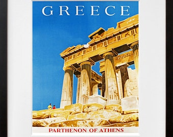 Greek Travel Poster Greece Art Print Vintage Home Decor (ZT204)